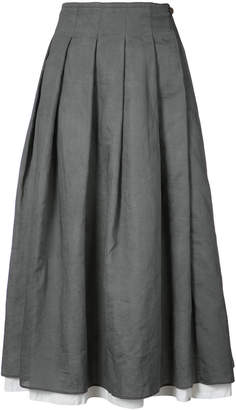 A Diciannoveventitre mid-length pleated skirt