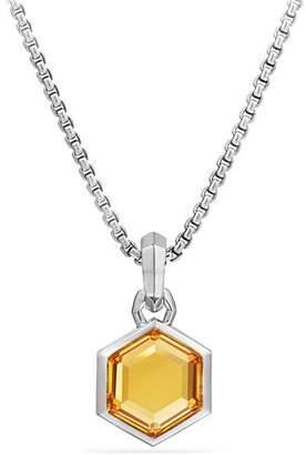 David Yurman Hexagon Cut Amulet with Citrine