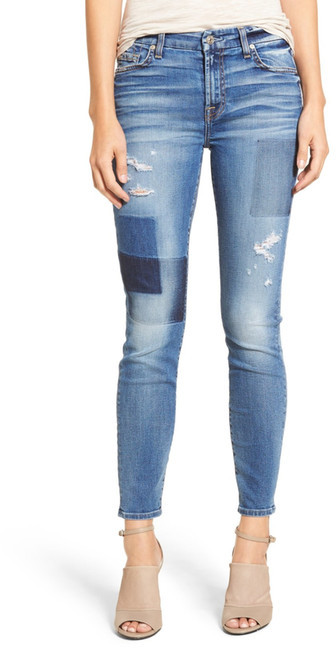 7 For All Mankind7 For All Mankind Patch Dye Ankle Skinny Jean