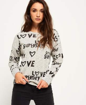 Superdry All Over Print Burnout Crew Jumper