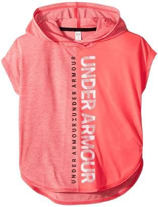 Under Armour Kids Threadborne Short Sleeve Hoodie Girl's Sweatshirt