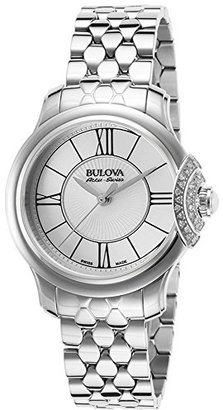 Bulova Women's Quartz Stainless Steel Dress Watch, Color:Silver-Toned (Model: 63R143) $1,195 thestylecure.com
