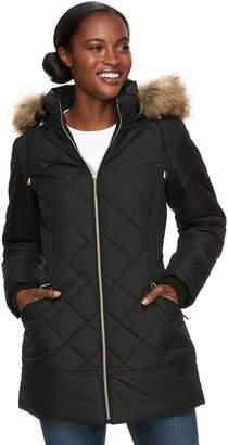 Details Women's Hooded Quilted Walker Jacket