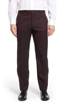 Zanella Parker Flat Front Stretch Twill Wool Trousers