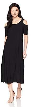 Tiana B Women's Petite Cold Shoulder Maxi Dress