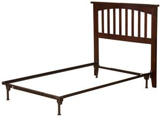 Atlantic Furniture Mission Headboard TW w/ Metal Bed Frame Antique Walnut