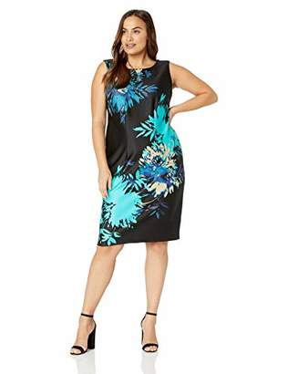 Gabby Skye Women's Plus Size Floral Print Sheath Dress