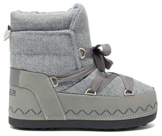 Bogner Trois Vallees 8a Lace Up Felt Snow Boots - Womens - Grey