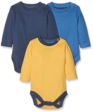 Mothercare Blue, Navy and Yellow Bodysuits - 3 Pack, Multi, (Manufacturer Size:62)