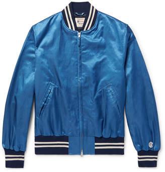Todd Snyder + Champion + Champion - Cotton-Blend Satin Bomber Jacket