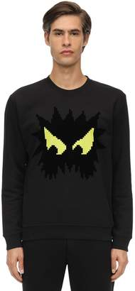 McQ Monster Printed Cotton Sweatshirt