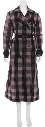 Diane von Furstenberg Check Long Coat