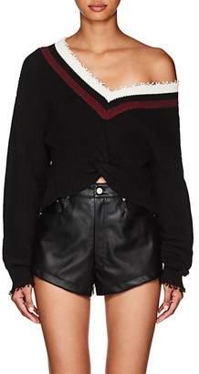 Alexander Wang Women's Twist-Front Cotton-Blend Sweater