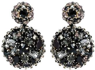 Oscar de la Renta Crystal-embellished disk earrings