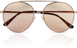 Tom Ford Simone-02 Rounded Aviator Sunglasses