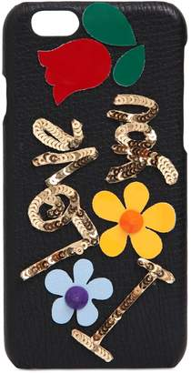 Dolce & Gabbana I Love You Embellished Iphone 6 Case