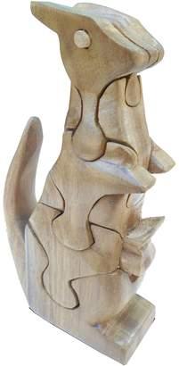 QToys Natural Kangaroo 3D Puzzle