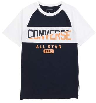 Converse Spliced Graphic Raglan T-Shirt