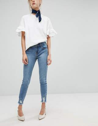Current Air Skinny Jean with Ripped Hems