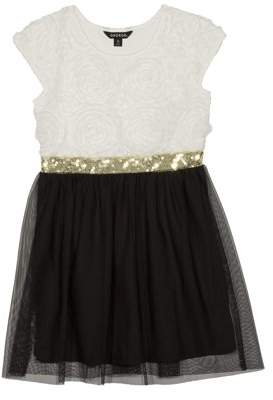 George Girls' Floral Soutache Holiday Christmas Dress