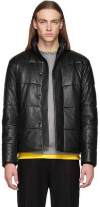BOSS Black Leather Gadimi Jacket