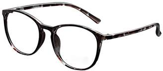 clear De Ding DEDING Retro Round Lens Eyeglasses (,