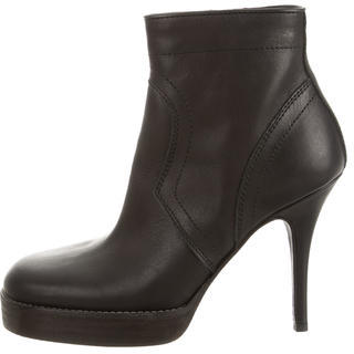 Rick Owens Round-Toe Ankle Boots w/ Tags $695 thestylecure.com