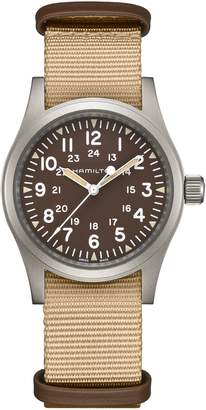 Hamilton Khaki Field Mechanical NATO Strap Watch, 38mm