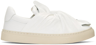 Ports 1961 White Bow Slip-On Sneakers $560 thestylecure.com