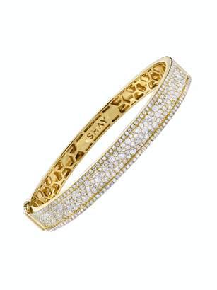 SHAY Pavé Diamond Nameplate Bangle Bracelet