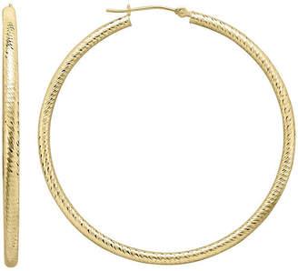 JCPenney FINE JEWELRY Infinite Gold 14K Yellow Gold Hoop Earrings