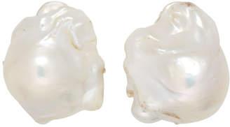 Monies Jewellery Silver Baroque Pearl Earrings