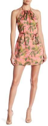 Honeybelle Honey Belle Printed Satin Halter Dress