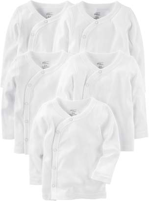 Carter's Simple Joys By Simple Joys by Baby 5-Pack Side-Snap Long-Sleeve Shirt