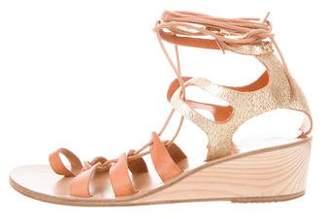 Ancient Greek Sandals Kiveli Lace-Up Wedges