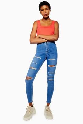 Topshop Mid Blue Super Rip Joni Jeans