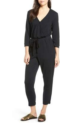 Caslon Surplice Crop Jumpsuit