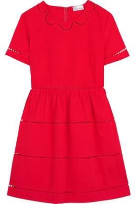 RED Valentino Embroidered Cotton Mini Dress