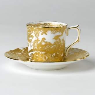 "Bloomingdale's Royal Crown Derby ""Gold Aves"" Coffee Cup"