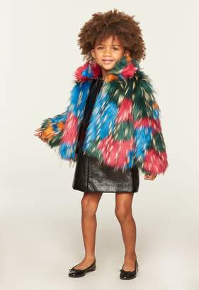 Milly Minis MillyMilly Multicolor Faux Fur Jacket