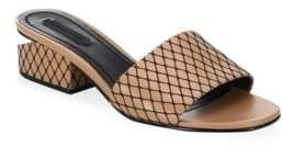 Alexander Wang Lou Low Heel Fishnet Slides