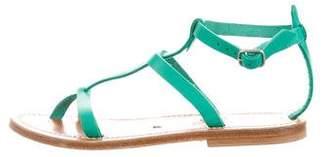 K Jacques St Tropez Leather Multistrap Sandals