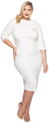 Unique Vintage Plus Size Lucinda Wiggle Dress Women's Dress