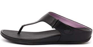 FitFlop Gladdie toe-post Black Sandals Womens Shoes Casual Sandals-flat Sandals