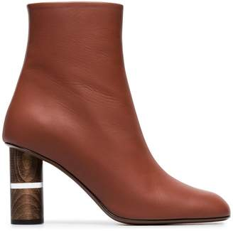 Neous tan clowesia 80 leather ankle boots