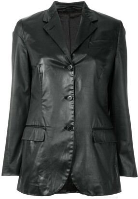 Helmut Lang Pre-Owned notched lapel buttoned jacket
