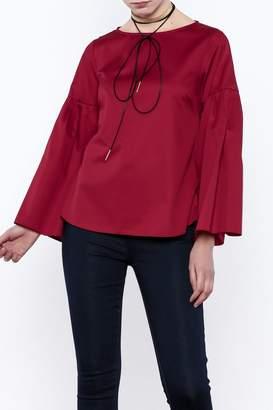 Closet Long Flared Sleeve Blouse