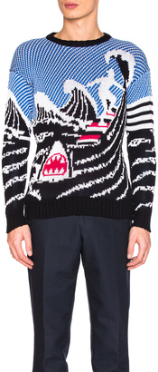 Thom Browne Surfing Scenery Pullover $790 thestylecure.com