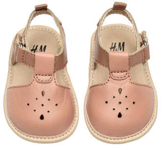H&M Leather sandals - Beige
