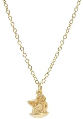Best Silver Inc. 14K Solid Gold Angel Pendant Necklace